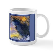 Gold Moon and Winter Crow Mug
