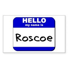 hello my name is roscoe Rectangle Decal