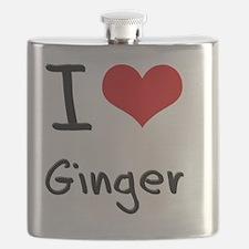 I Love Ginger Flask