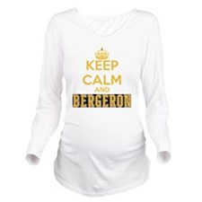 Keep Calm and Berger Long Sleeve Maternity T-Shirt