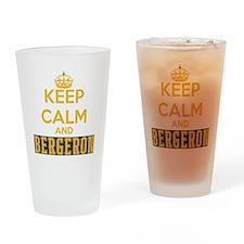 Keep Calm and Bergeron Tee Drinking Glass