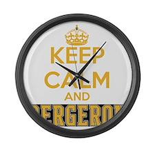 Keep Calm and Bergeron Tee Large Wall Clock