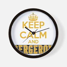 Keep Calm and Bergeron Tee Wall Clock