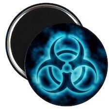 Blue Biohazard Symbol Magnet