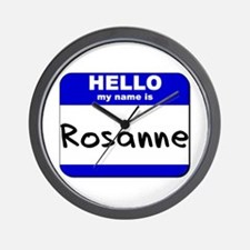 hello my name is rosanne  Wall Clock