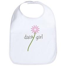Pink Daisy Girl Baby Bib