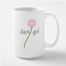 Pink Daisy Girl Large Mug