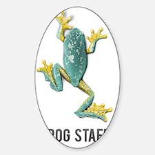Fringed leaf frog Sticker (Oval)