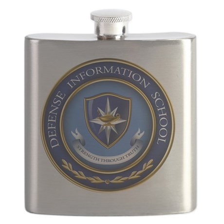 Defense Information School Clasic Flask