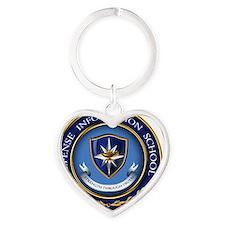 Defense Information School Clasic Heart Keychain