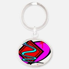 Year of the Snake Oval Keychain