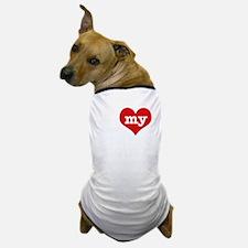 I Love My Albino Mouse Dog T-Shirt