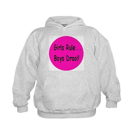Gilrs Rule - Boys Drool! Kids Hoodie