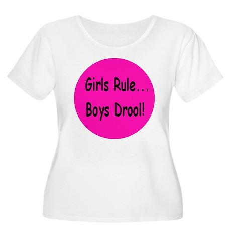 Gilrs Rule - Boys Drool! Women's Plus Size Scoop N