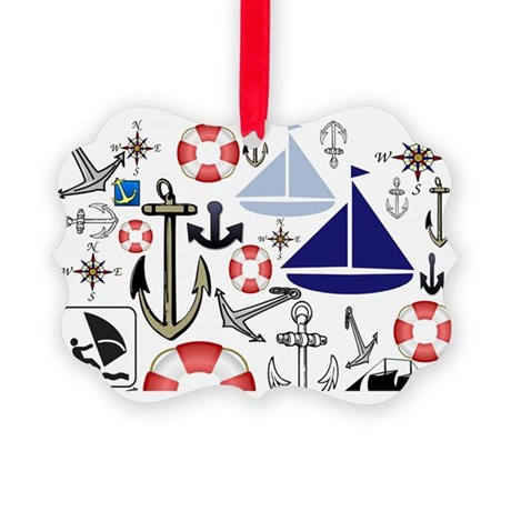 Naturally Nautical Picture Ornament
