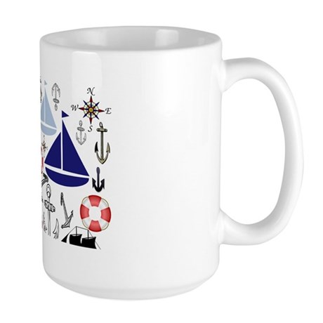 Naturally Nautical Large Mug