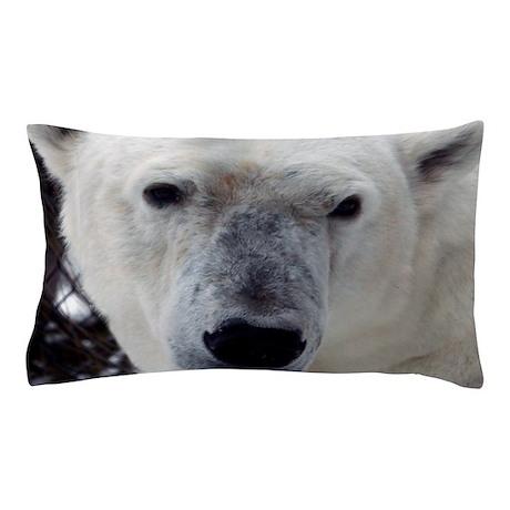 Big Face Animal - Polar Bear Pillow Case by Admin_CP4552689