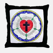 Luther Seal Stained Glass Motif Throw Pillow