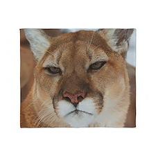 Big Face Animal - Panther Throw Blanket