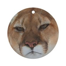 Big Face Animal - Panther Round Ornament
