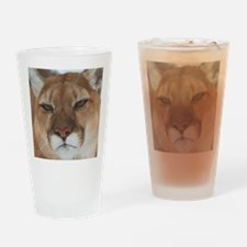 Big Face Animal - Panther Drinking Glass