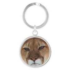 Big Face Animal - Panther Round Keychain