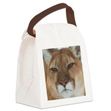 Big Face Animal - Panther Canvas Lunch Bag