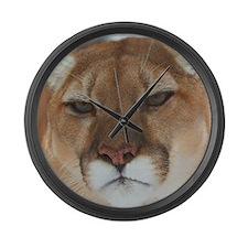 Big Face Animal - Panther Large Wall Clock