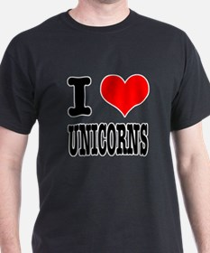 I Heart (Love) Unicorns T-Shirt