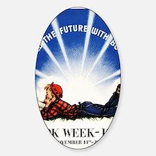 1943 Childrens Book Week Sticker (Oval)