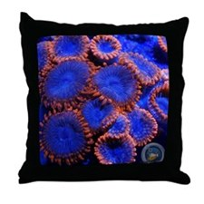 CRE Zoanthids Lunar Eclipse Throw Pillow