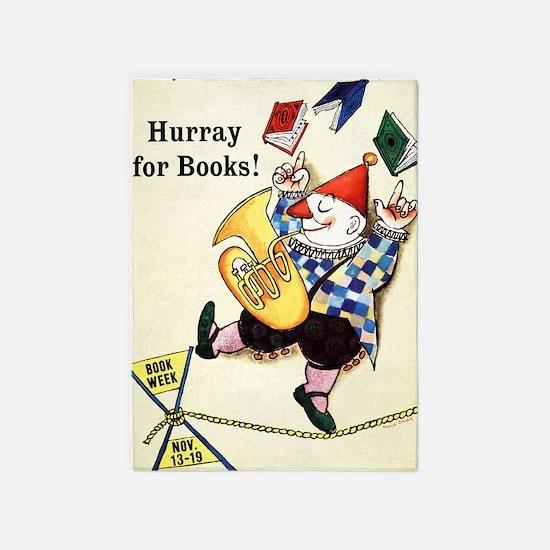 1960 Childrens Book Week 5'x7'Area Rug