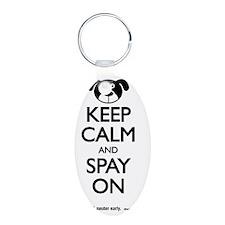 Keep Calm Dog Keychains