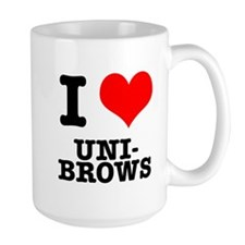 I Heart (Love) Unibrows Mug