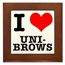 I Heart (Love) Unibrows Framed Tile