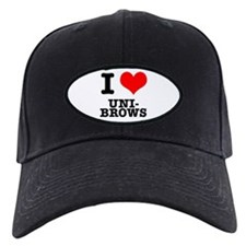 I Heart (Love) Unibrows Baseball Hat