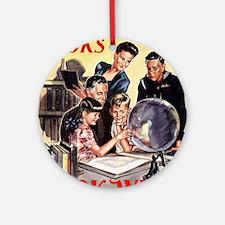 1945 Childrens Book Week Round Ornament
