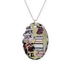 1969 Childrens Book Week Necklace Oval Charm