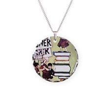 1969 Childrens Book Week Necklace Circle Charm