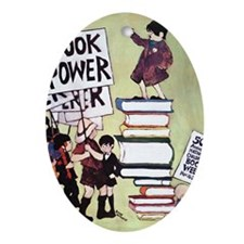 1969 Childrens Book Week Oval Ornament
