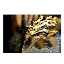 gold leaf painting Postcards (Package of 8)