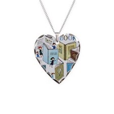 1957 Childrens Book Week Necklace Heart Charm