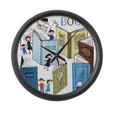 1957 Childrens Book Week Large Wall Clock