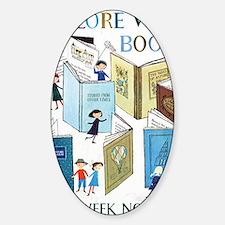 1957 Childrens Book Week Sticker (Oval)
