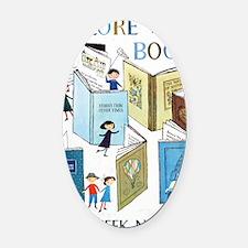 1957 Childrens Book Week Oval Car Magnet