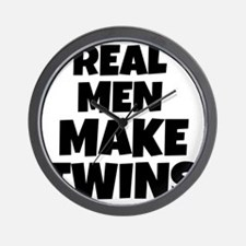 Real Men Make Twins Wall Clock