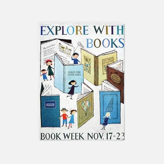 1957 Childrens Book Week 5'x7'Area Rug