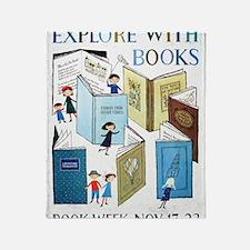 1957 Childrens Book Week Throw Blanket