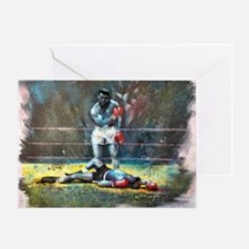 Knocked Out Greeting Card