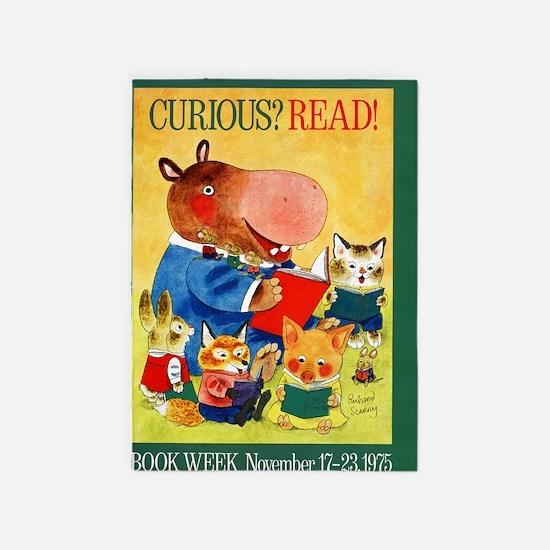 1975 Childrens Book Week 5'x7'Area Rug